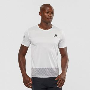 LC1478000 Salomon Sense Tee M whiteblac kalloy model front