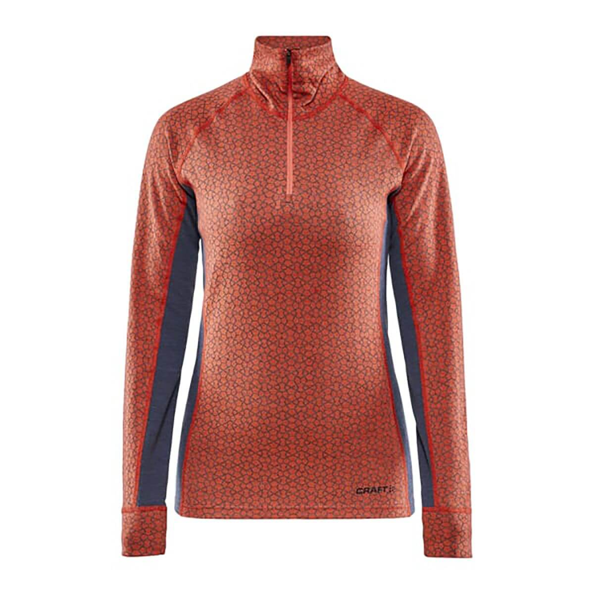 Craft Merino 240 Zip LS W orange/grey