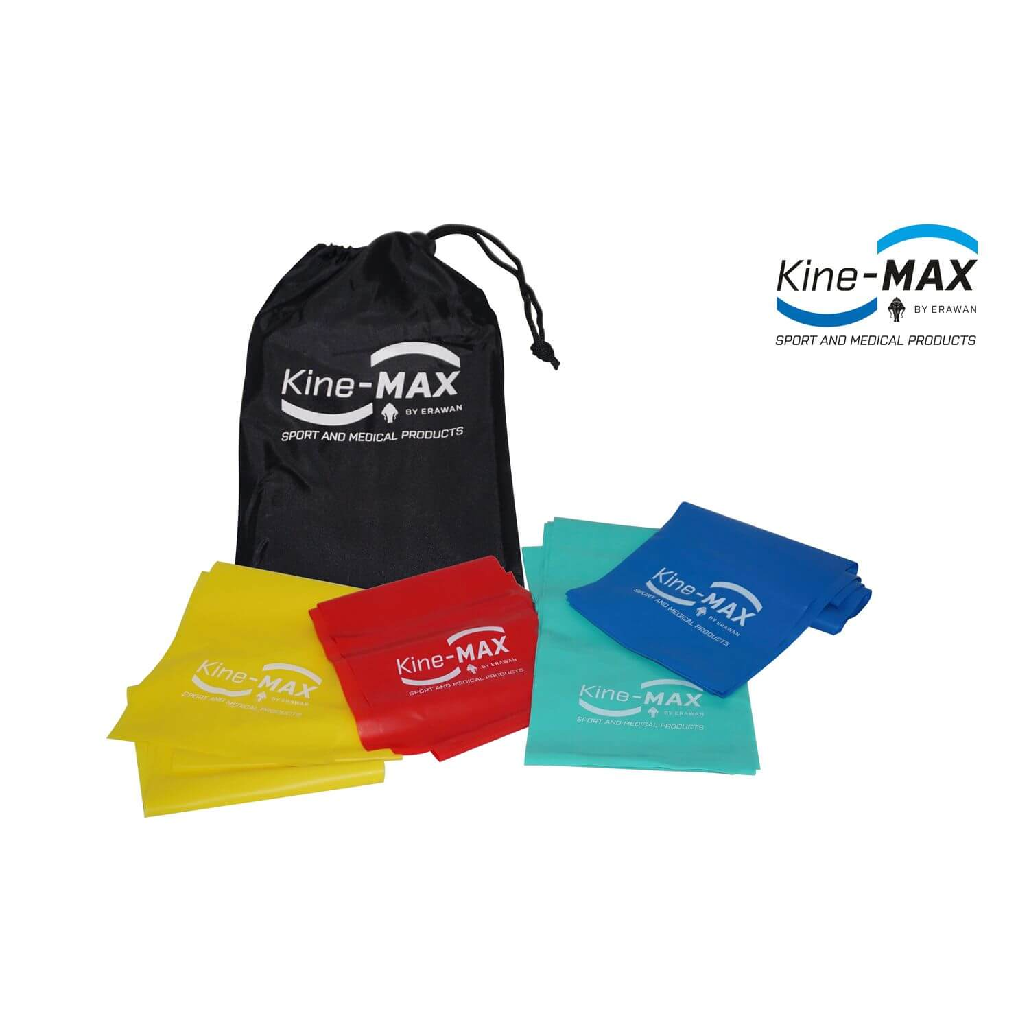 Kine-MAX Professional Resistance Band Kit - Set Posilovacích Gum - Level 1-4
