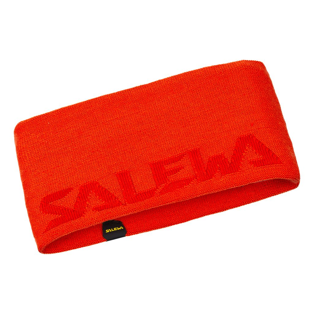 Salewa Agner Wool UNI Headband red orange