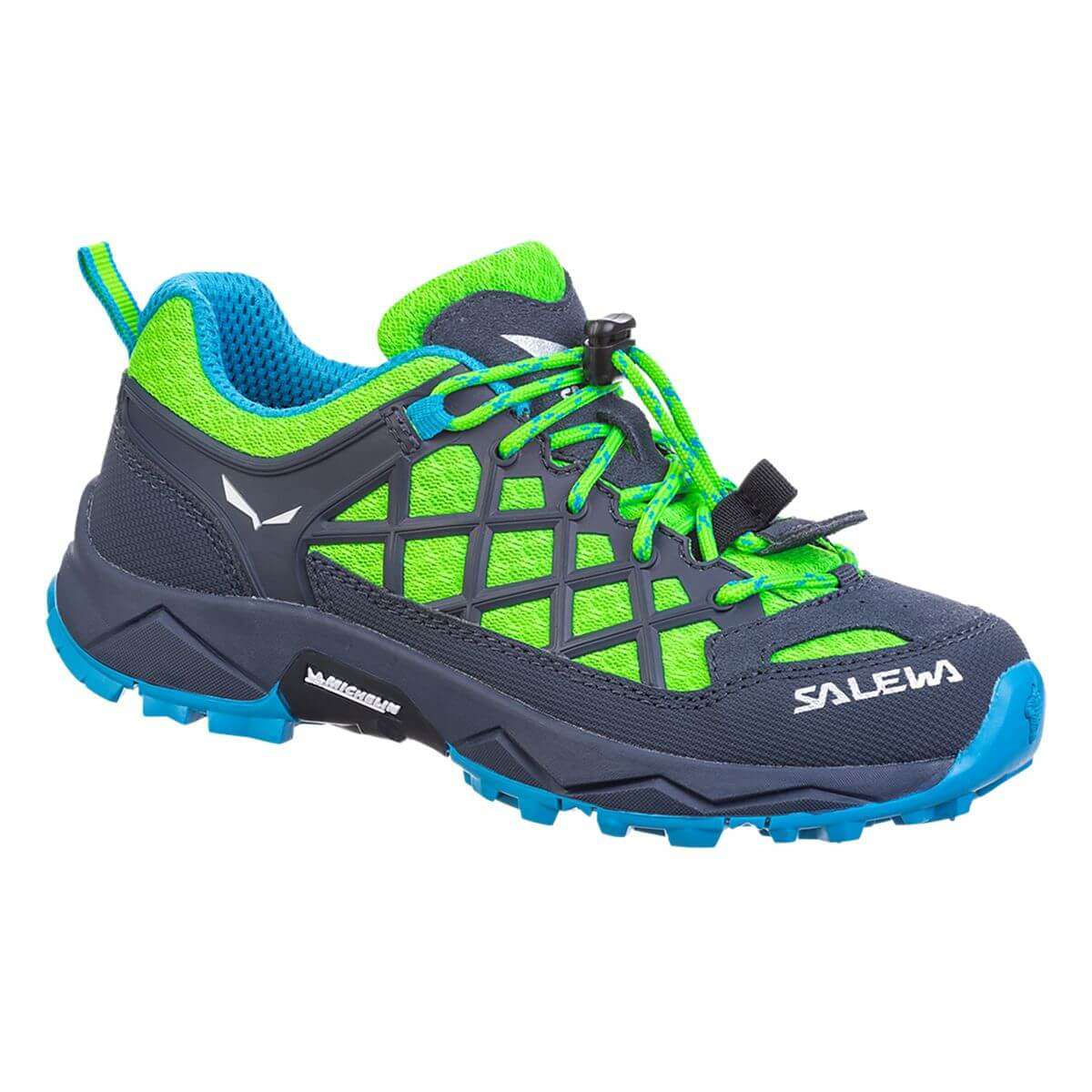 Salewa JR Wildfire J fluo green/blue danube