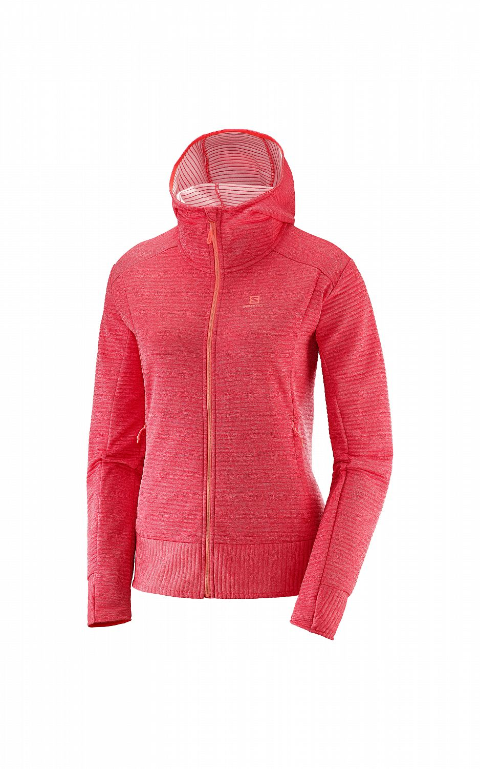 SALOMON Right Nice Mid Hoodie W hibiscus